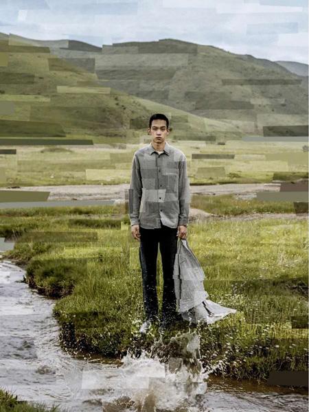 单农男装品牌2020秋季灰色长袖衬衫