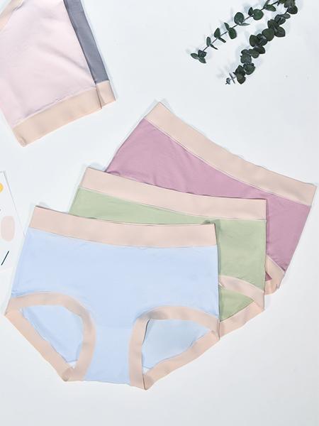 SOFU舒工坊内衣品牌2020春夏蓝色内裤