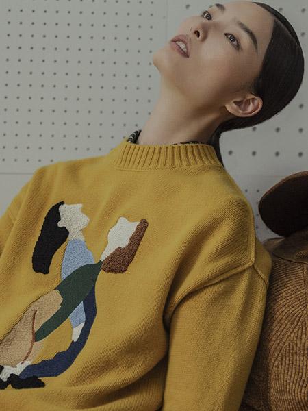 播女装品牌2020秋冬黄色针织衫上衣