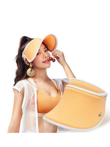 VVC鞋帽/领带品牌2020春夏橙色防晒帽