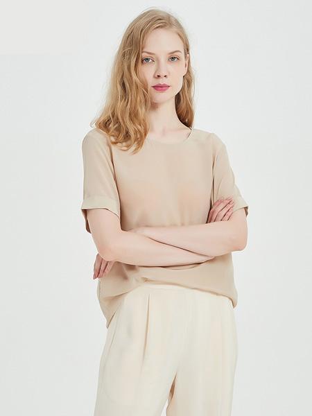 绕音女装品牌2020春夏RAOYIN绕音2020夏季新款女装 100%桑蚕丝真丝衬衫百搭 多色可选