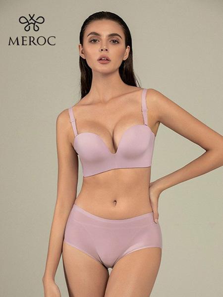 慕若芊内衣品牌2020春夏浅紫色文胸套装