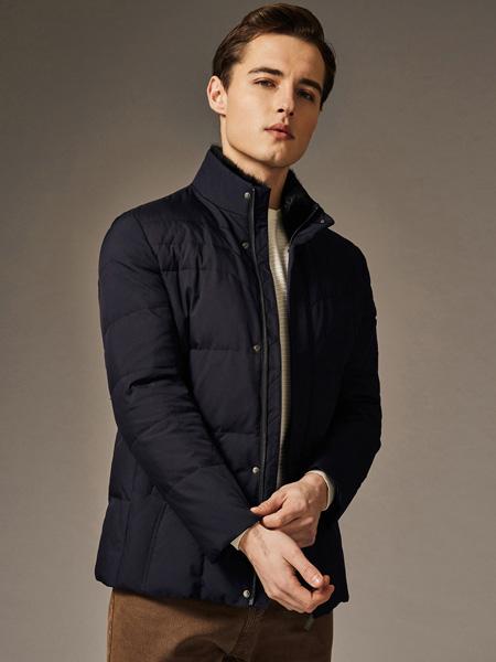爱迪丹顿男装品牌2020秋冬黑色保暖外套短款