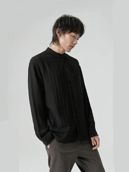 樸術男装品牌2020秋季黑色长袖衬衫