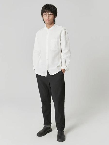樸術男装品牌2020秋季白色长袖衬衫