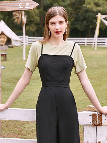 亦谷女装品牌2020春夏亦谷2020夏新款基础莫代尔宽松T恤舒适显瘦上衣女学生薄纯色潮