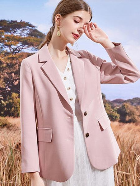 亦谷女装品牌2020秋季2020亦谷秋季新款简约西装套装女韩版气质时尚洋气薄款ins上衣潮
