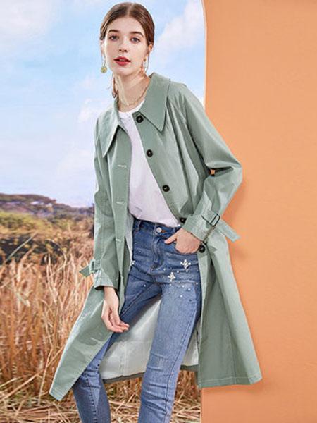 亦谷女装品牌2020秋季亦谷气质流行风衣女中长款小个子2020秋季新款英伦风宽松潮外套沃