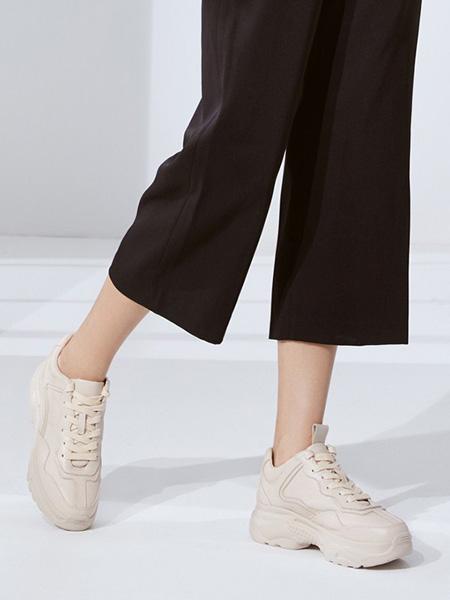 森达鞋帽/领带品牌米色绳结小皮鞋
