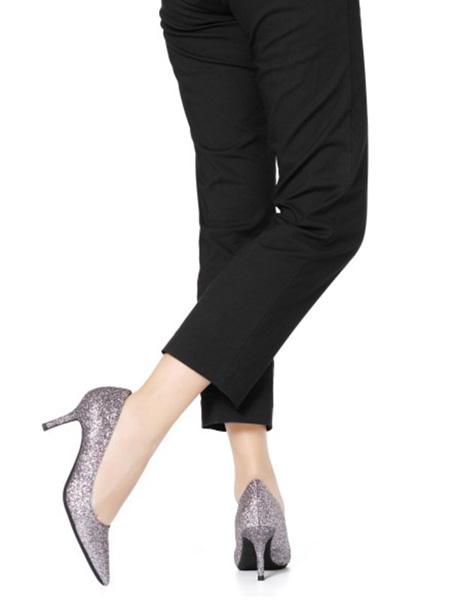 森达鞋帽/领带品牌高跟鞋银粉色