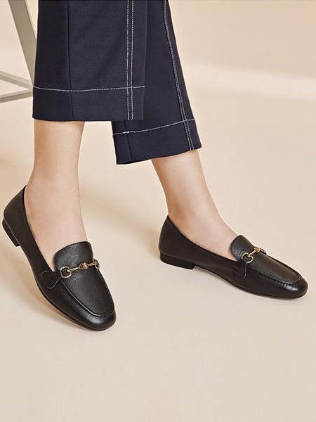 森达鞋帽/领带品牌黑色小皮鞋