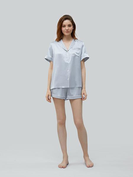 MANITO内衣品牌2020春夏蓝色睡衣套装