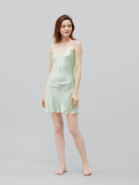 MANITO内衣品牌2020春夏绿色吊带睡衣