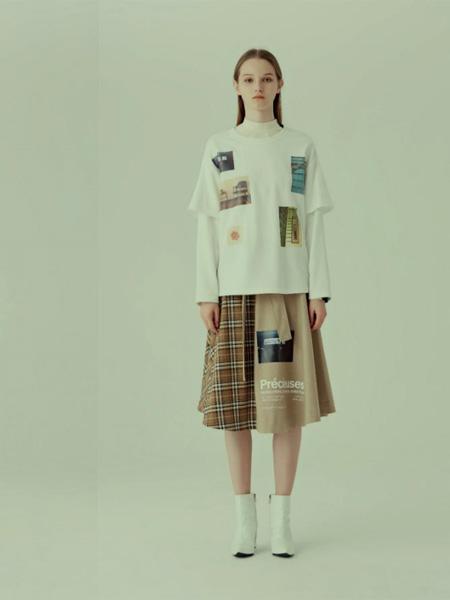 狩妖女装品牌2020秋季白色T恤
