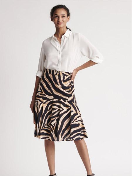 GERARD DAREL女装品牌2020秋季白色条纹连衣裙