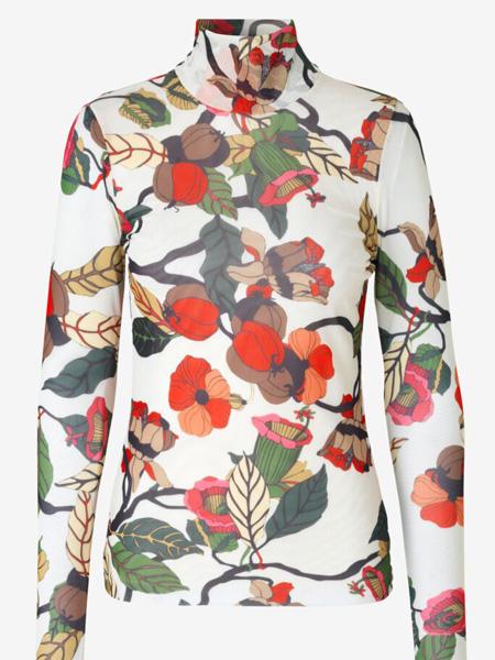 Baum und Pferdgarten女装品牌2020秋季白色印花上衣