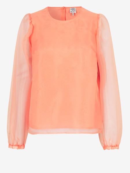 Baum und Pferdgarten女装品牌2020秋季橙色半透明上衣