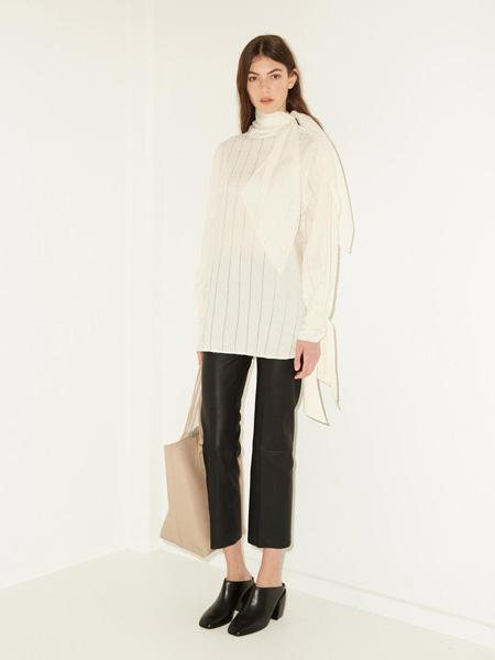 By Malene Birger玛莱娜·比格尔设计女装品牌2020秋季白色半透明上衣