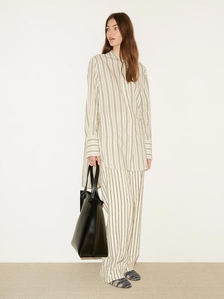 By Malene Birger玛莱娜·比格尔设计女装品牌2020秋季奶白色条纹上衣