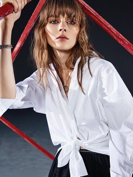 ik女装品牌2020春夏白色衬衫