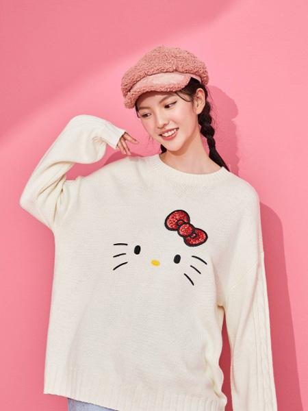ONLY女装品牌2020秋季米色圆领卫衣