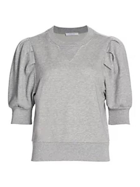 Saks Fifth Avenue女装品牌2020秋冬褶皱短袖运动衫