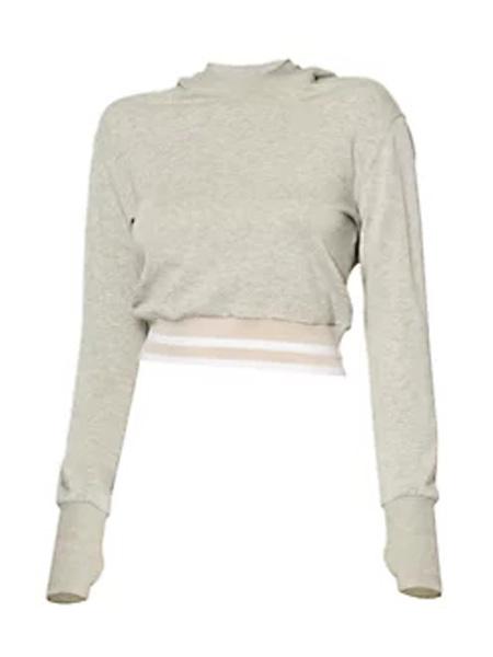 Saks Fifth Avenue女装品牌2020秋冬女英雄运动呼吸短款连帽衫