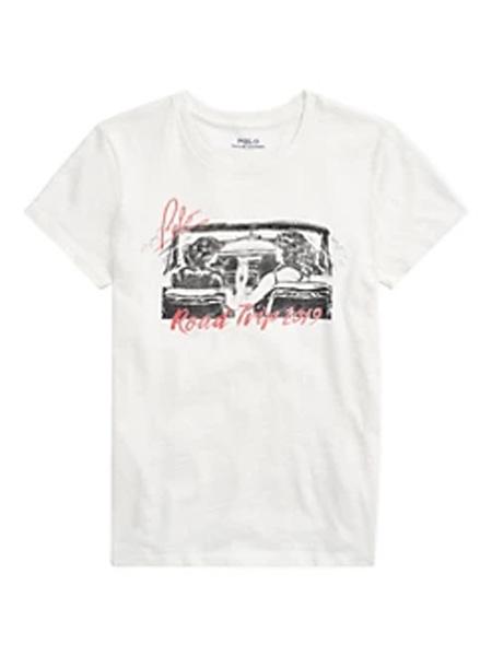 Saks Fifth Avenue女装品牌2020秋冬马球拉尔夫劳伦图形公路旅行T恤