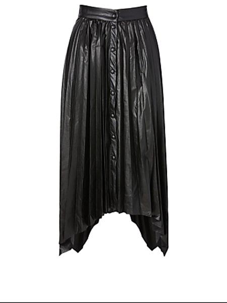 Holt Renfrew女装品牌2020秋季伊莎贝尔·马兰特Davies人造皮革长裙