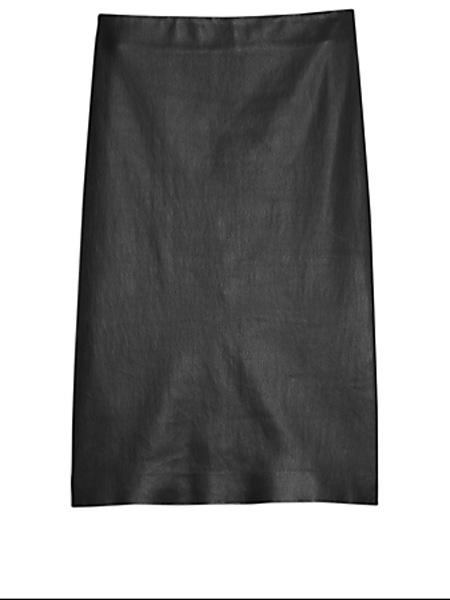 Holt Renfrew女装品牌2020秋季理论皮革铅笔裙