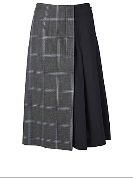 Holt Renfrew女装品牌2020秋季马尼羊毛两色中长半身裙