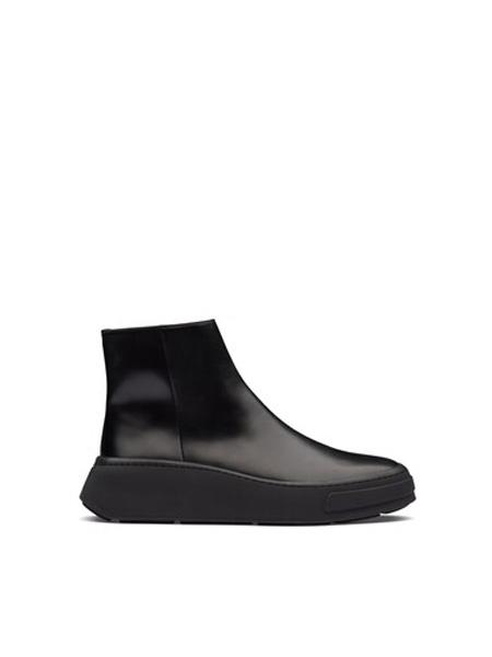 普拉达Prada鞋帽/领带品牌2020秋季拉绒皮革短靴