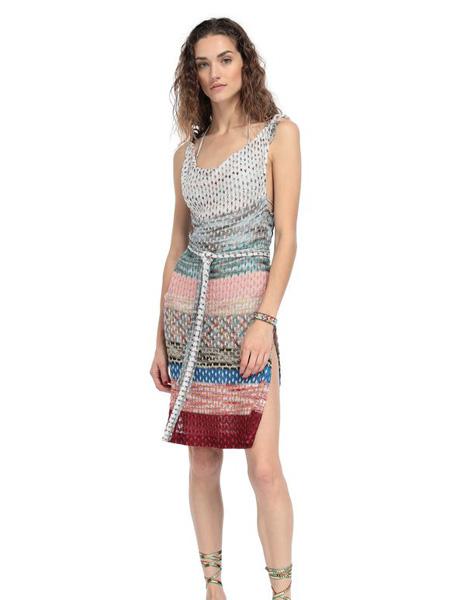 Eni:d女装品牌2020春夏 彩色无袖吊带沙滩裙
