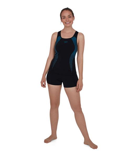 Speedo国际品牌2020春夏黑色连体衣