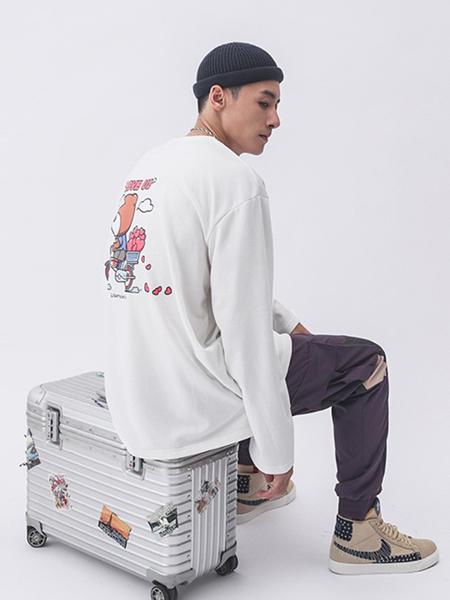LIGHTNINGBEAR(LNBR/熊電)男装品牌2020秋冬白色卡通上衣