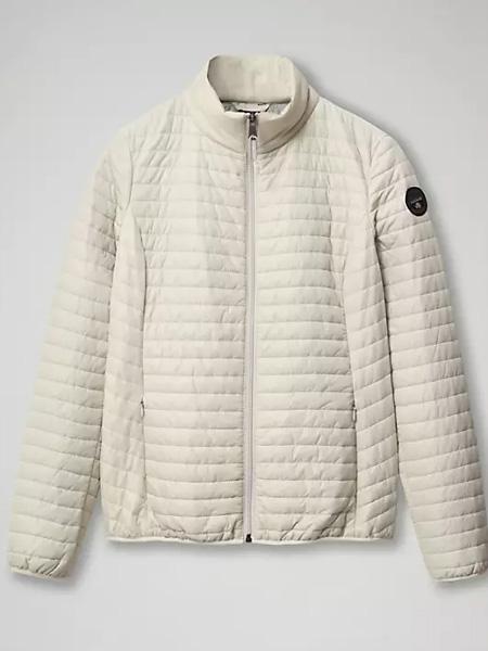 Napapijri女装品牌2020秋冬白色条纹外套