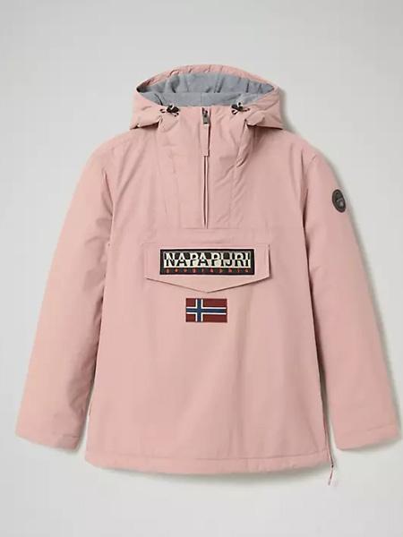Napapijri女装品牌2020秋冬粉色带帽外套