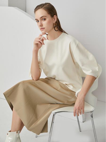布伦圣丝女装品牌2020秋冬白色上衣