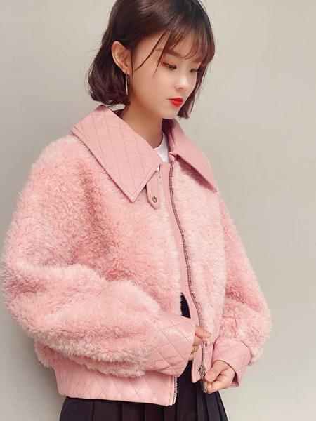 靓漫蒂女装品牌2020秋季粉色休闲外套
