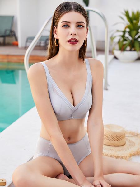 芭妃莎内衣品牌2020秋季灰色性感内衣