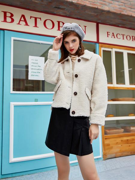 音菲梵女装品牌2020秋冬米色时尚外套
