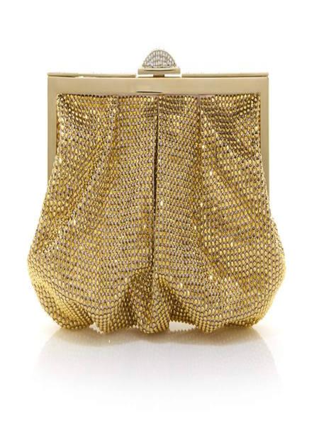 judithleiber潮流饰品品牌2020秋季金色水晶钱包