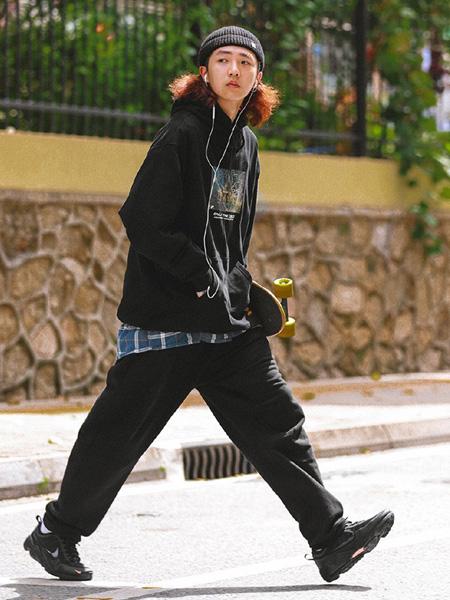 WhoseTrap男装品牌2020秋季黑色时尚外套