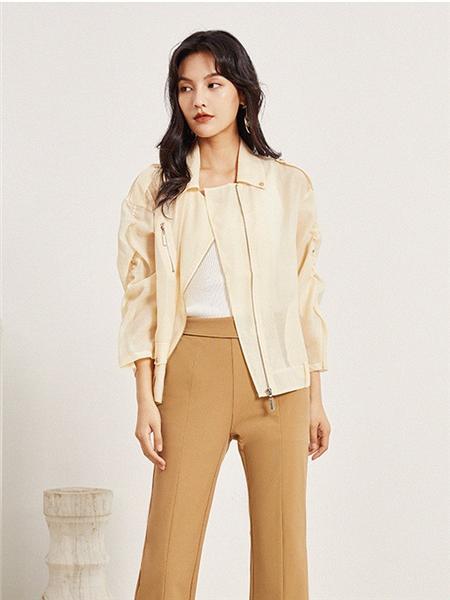 依维妮女装品牌2020秋季白色休闲外套