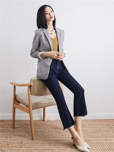 优衣美女装品牌2020秋冬灰色休闲外套