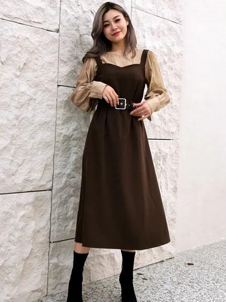 意外九九女装品牌2020秋季吊带连衣裙