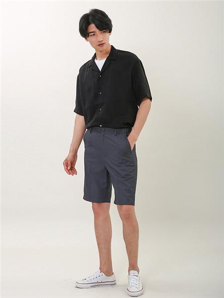 L.LANNE拉朗尼男装品牌2020春夏个性纯色衬衫
