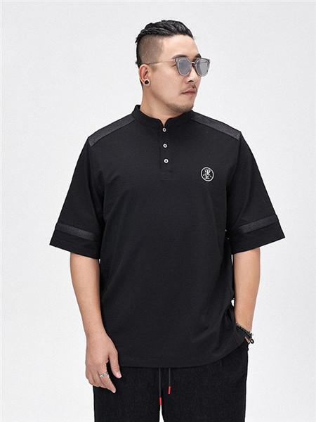 半墨男装品牌2020春夏黑色T恤