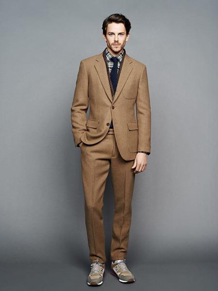 裁圣男装品牌2020秋季棕色西装套装