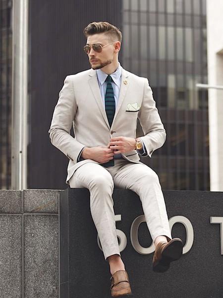 裁圣男装品牌2020秋季白色西装套装